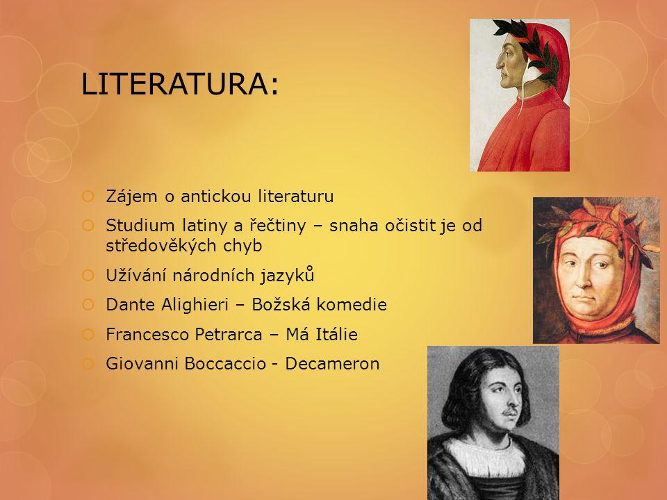 LITERATURA: Zájem o antickou literaturu