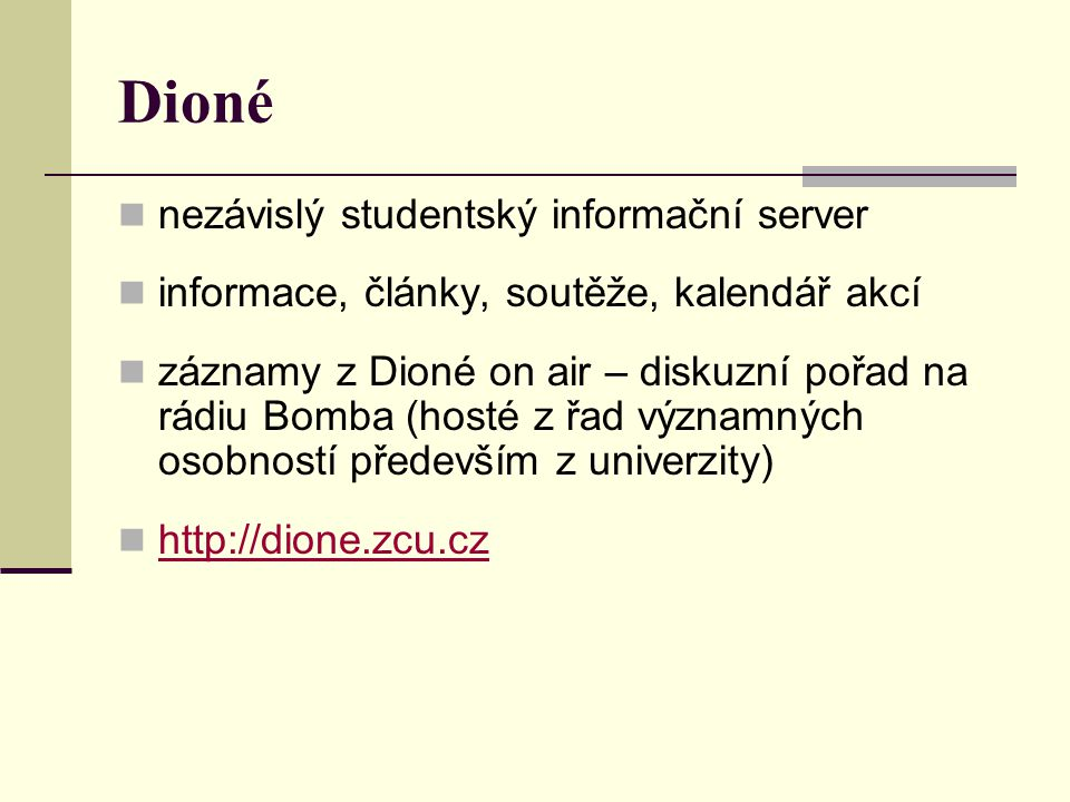 Dioné nezávislý studentský informační server