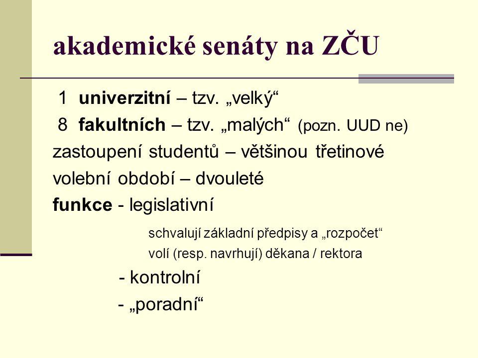 akademické senáty na ZČU
