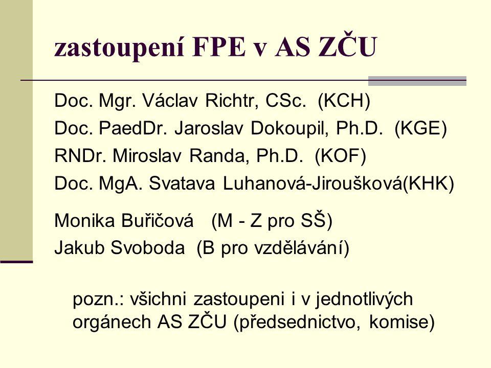 zastoupení FPE v AS ZČU