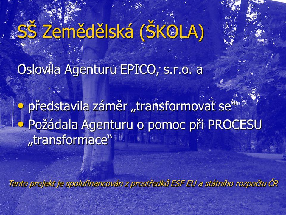SŠ Zemědělská (ŠKOLA) Oslovila Agenturu EPICO, s.r.o. a