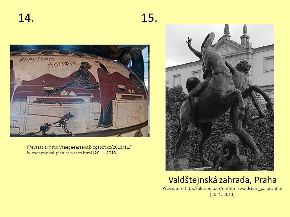 14. 15. Valdštejnská zahrada, Praha