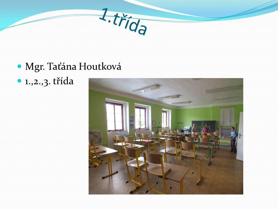 1.třída Mgr. Taťána Houtková 1.,2.,3. třída