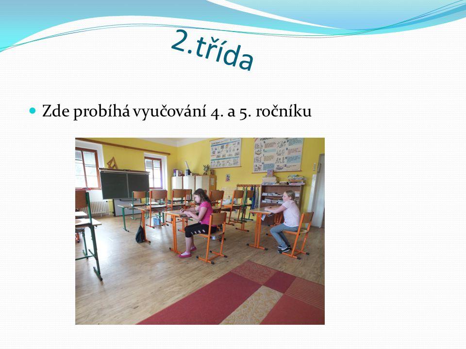 2.třída Zde probíhá vyučování 4. a 5. ročníku