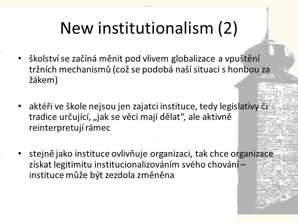 New institutionalism (2)