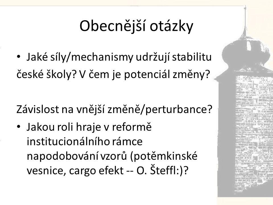 Obecnější otázky Jaké síly/mechanismy udržují stabilitu