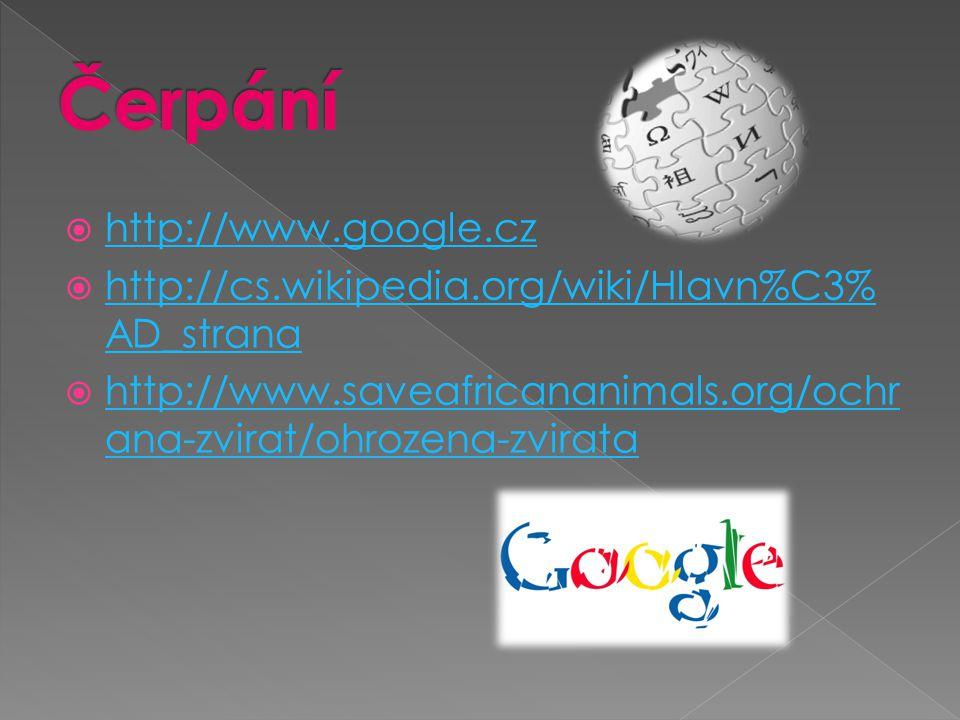 Čerpání http://www.google.cz