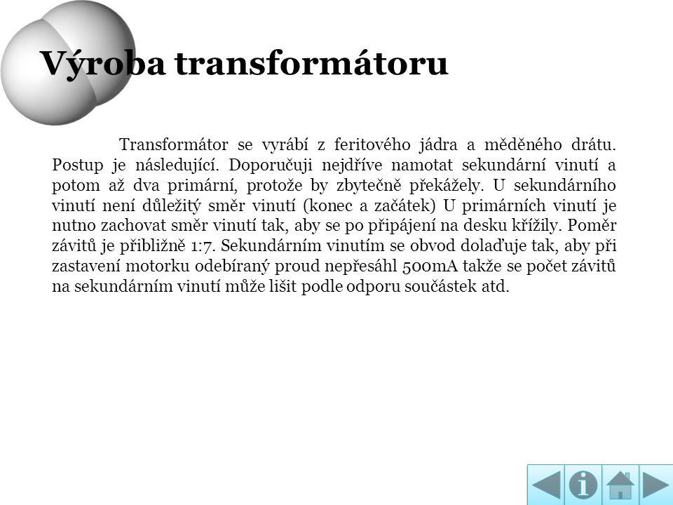 Výroba transformátoru