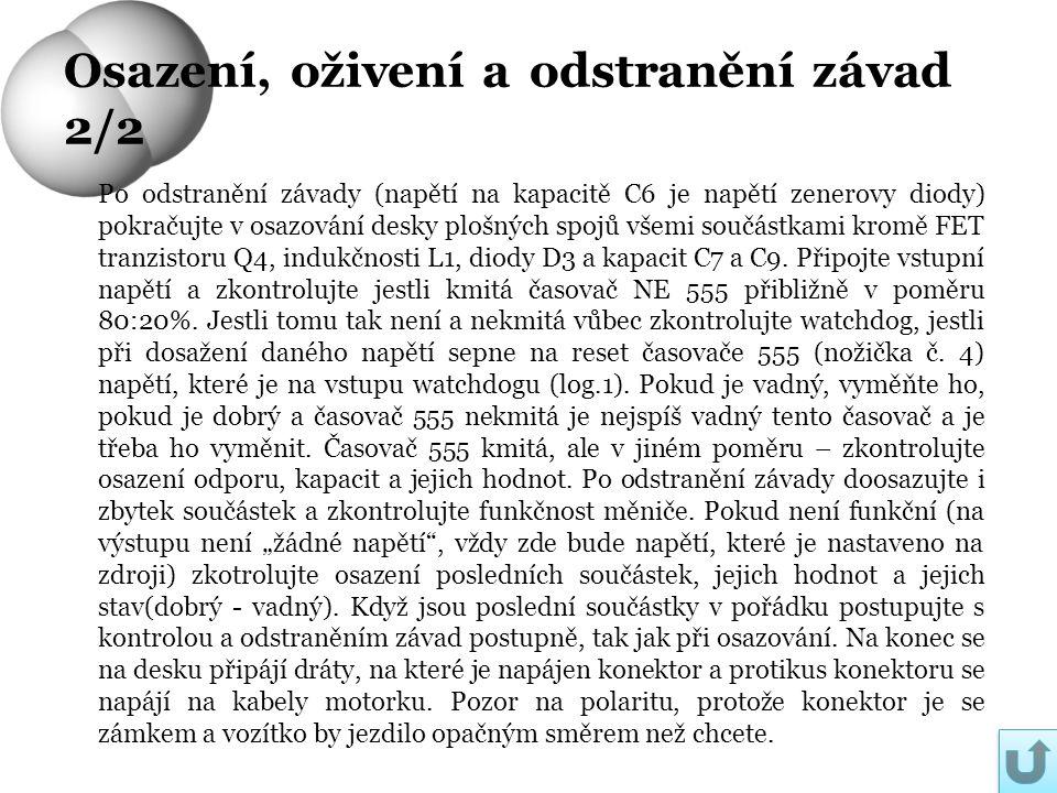 Osazení, oživení a odstranění závad 2/2