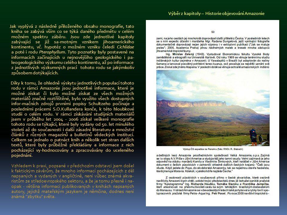 Výběr z kapitoly – Historie objevování Amazonie