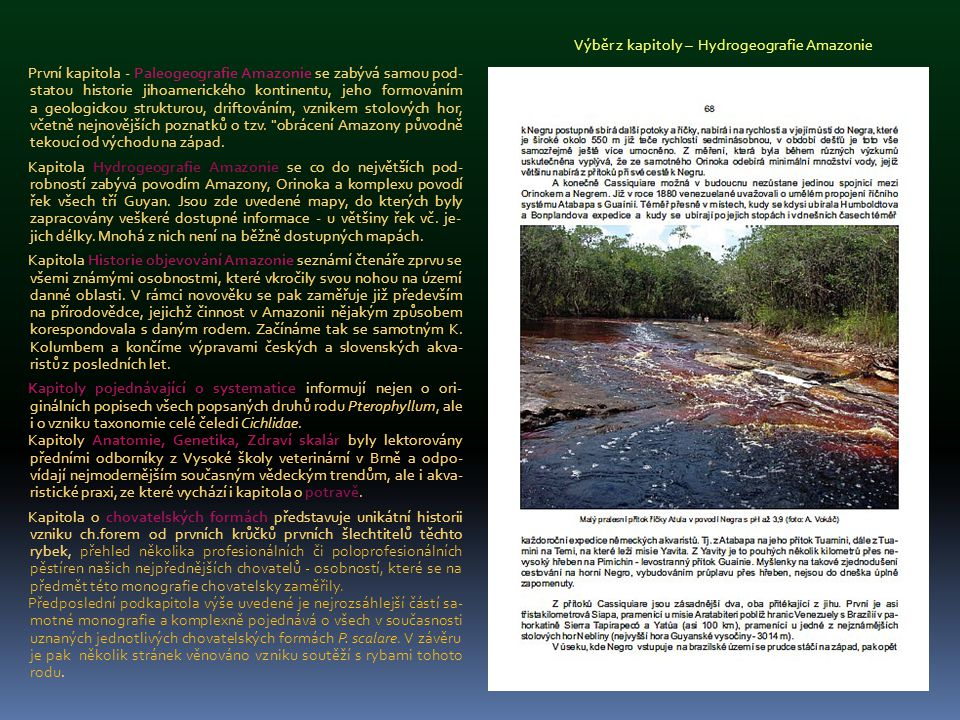 Výběr z kapitoly – Hydrogeografie Amazonie