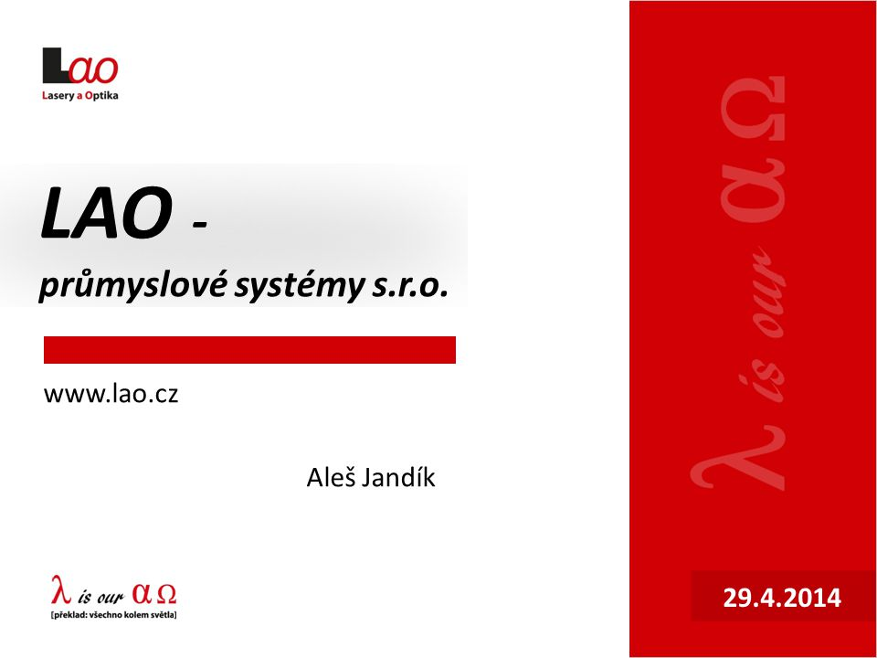 LAO - průmyslové systémy s.r.o.