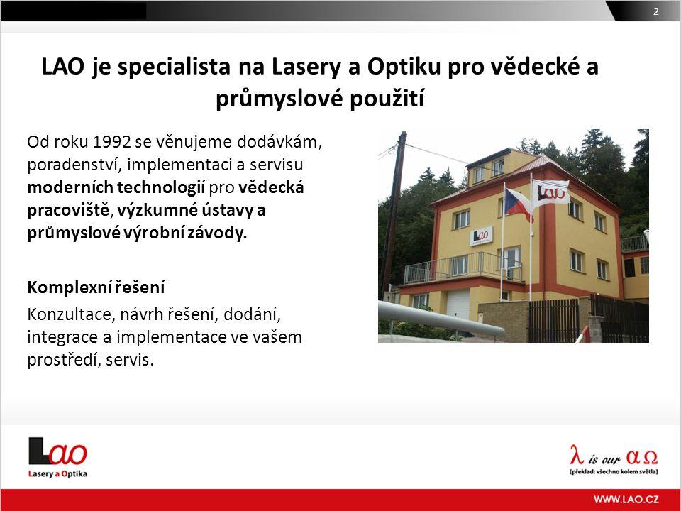 LAO je specialista na Lasery a Optiku pro vědecké a průmyslové použití