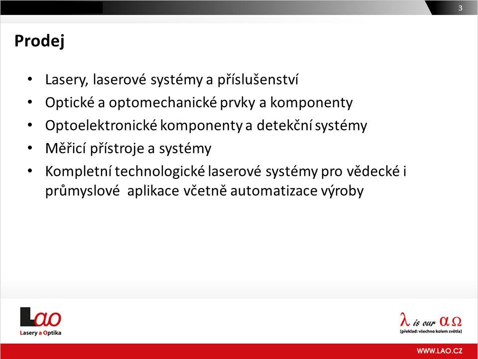 Prodej Lasery, laserové systémy a příslušenství