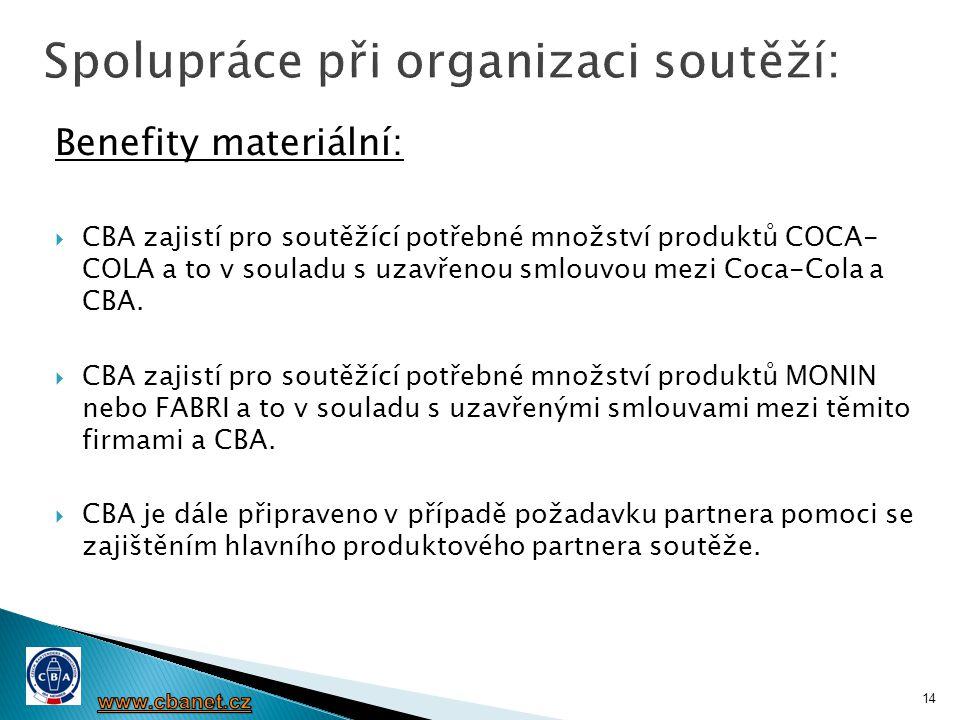 Spolupráce při organizaci soutěží: