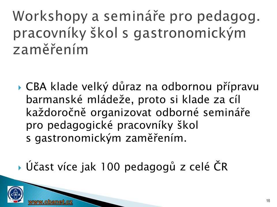 Workshopy a semináře pro pedagog