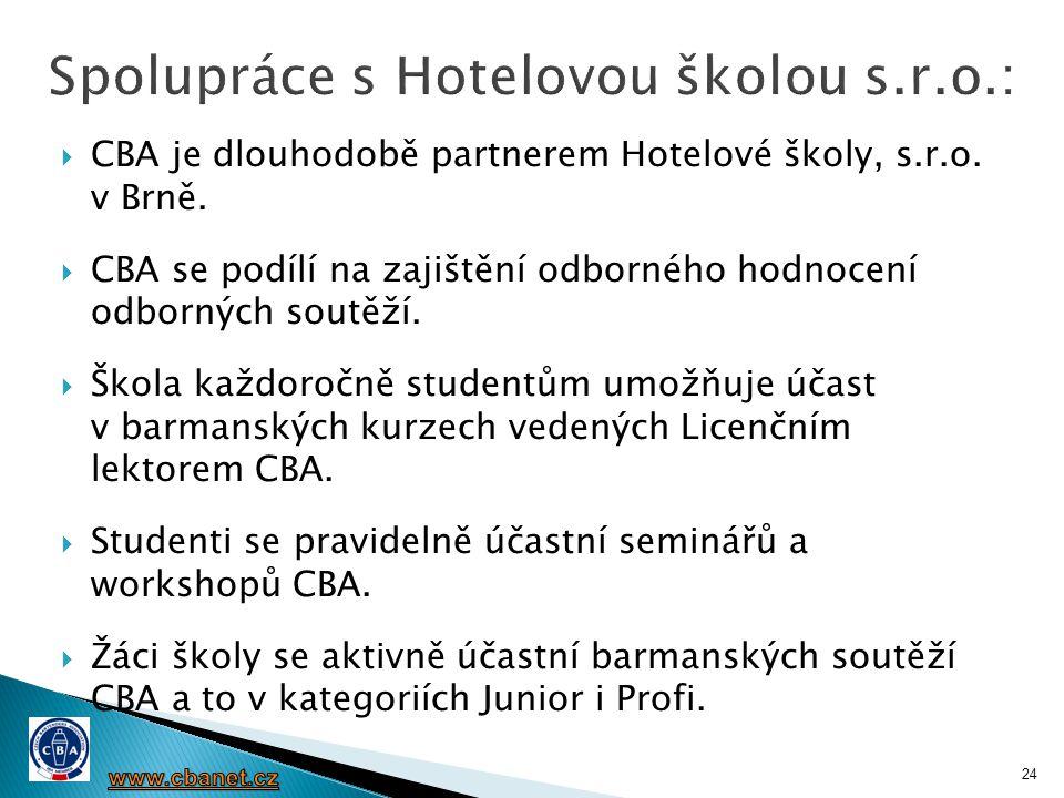Spolupráce s Hotelovou školou s.r.o.: