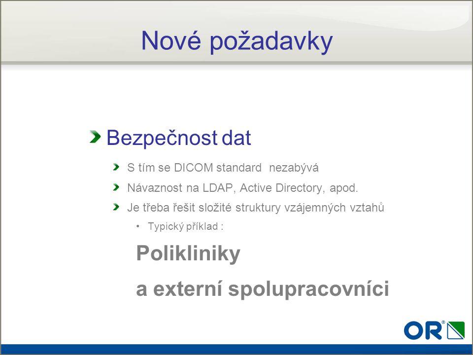 Nové požadavky Bezpečnost dat Polikliniky a externí spolupracovníci