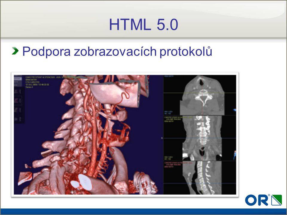 HTML 5.0 Podpora zobrazovacích protokolů