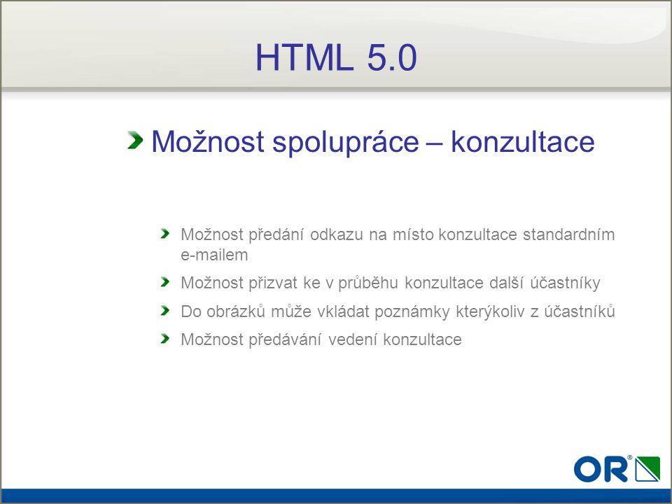 HTML 5.0 Možnost spolupráce – konzultace