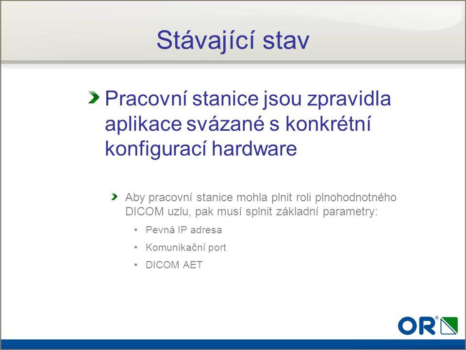 Stávající stav Pracovní stanice jsou zpravidla aplikace svázané s konkrétní konfigurací hardware.
