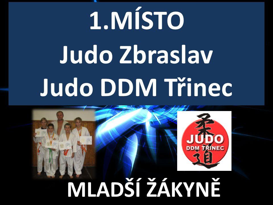 1.MÍSTO Judo Zbraslav Judo DDM Třinec
