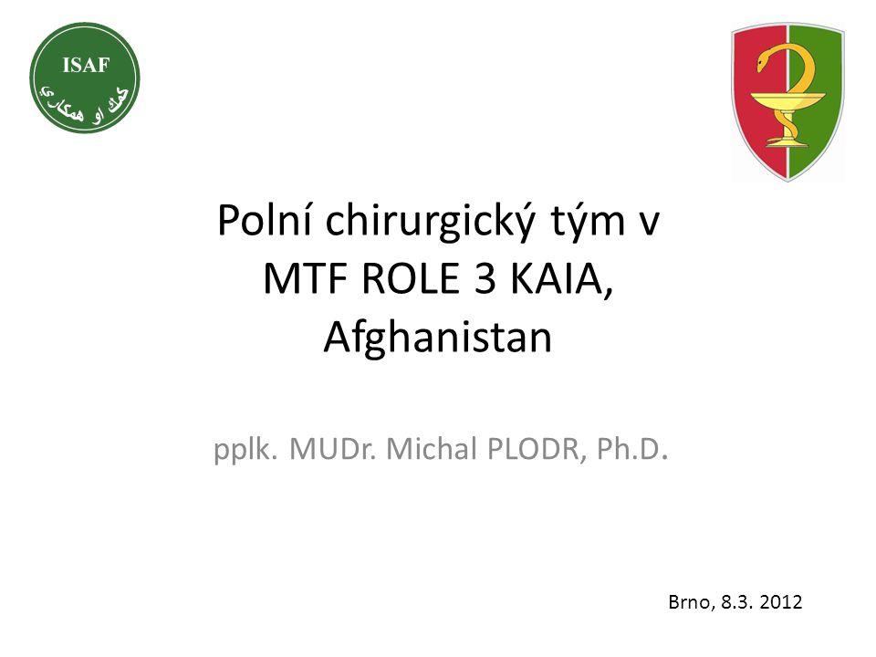 Polní chirurgický tým v MTF ROLE 3 KAIA, Afghanistan