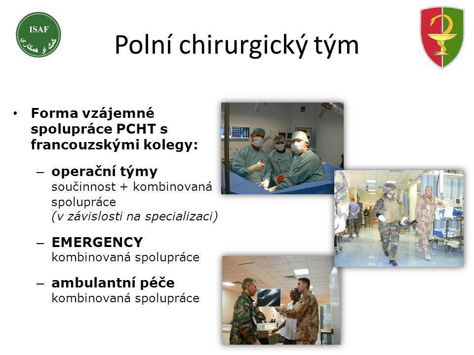 Polní chirurgický tým Forma vzájemné spolupráce PCHT s francouzskými kolegy: