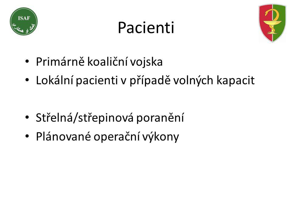 Pacienti Primárně koaliční vojska
