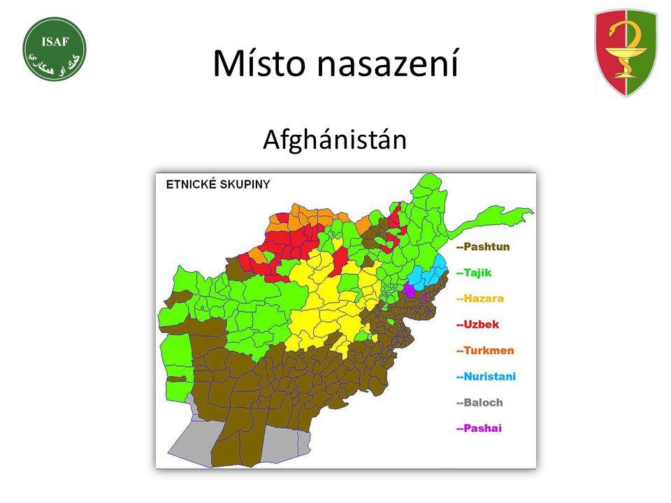 Místo nasazení Afghánistán Etnické složení obyvatelstva