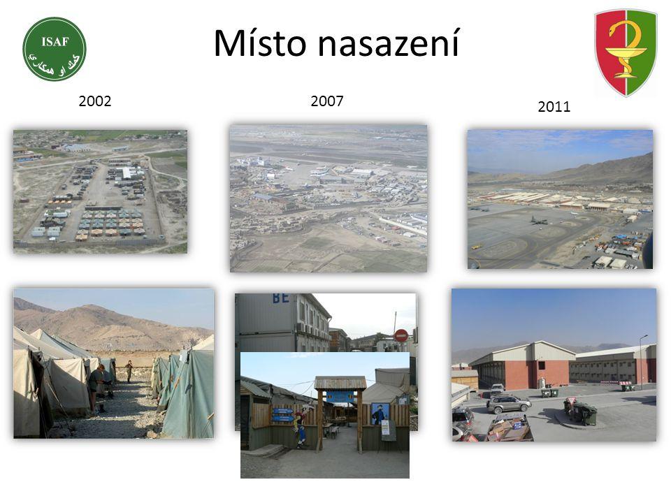 Místo nasazení 2002 2007 2011