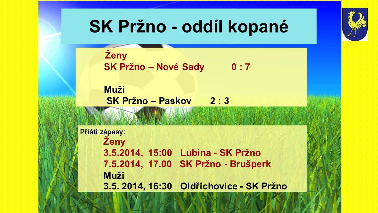 SK Pržno - oddíl kopané Ženy SK Pržno – Nové Sady 0 : 7 Muži