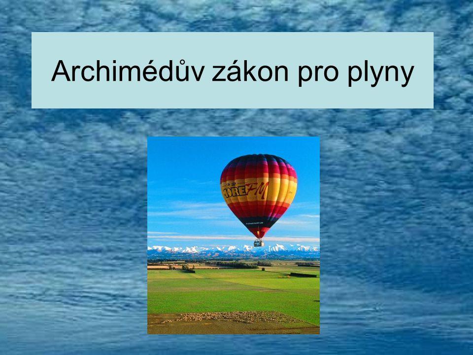Archimédův zákon pro plyny