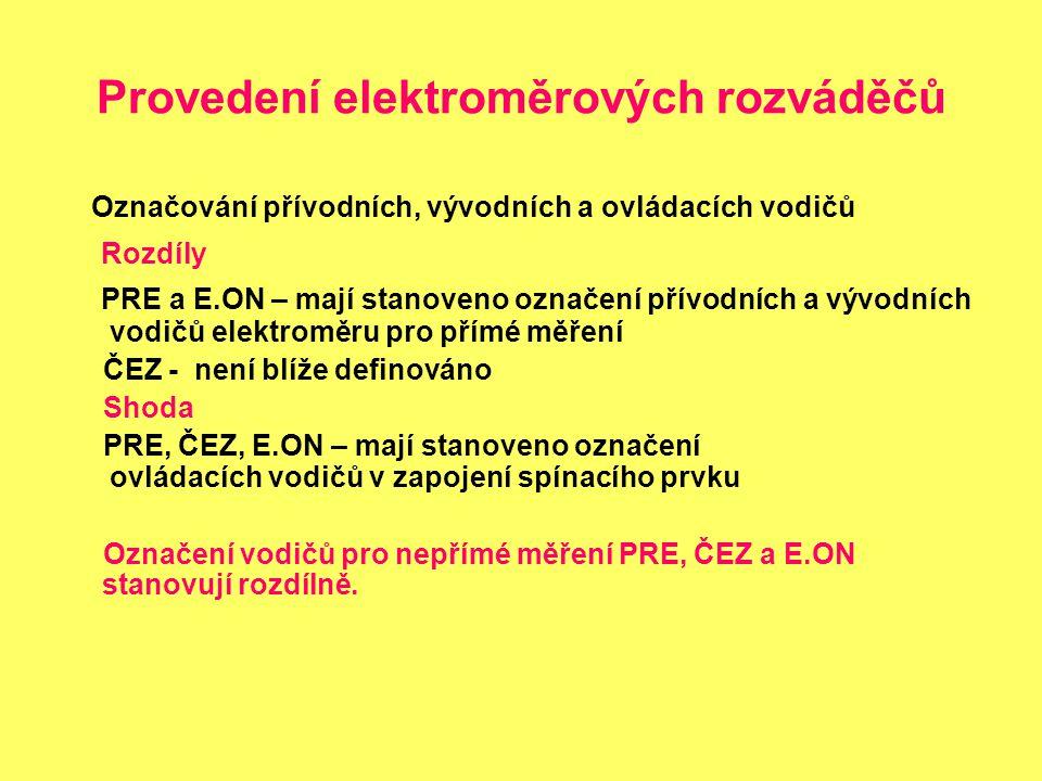 Provedení elektroměrových rozváděčů