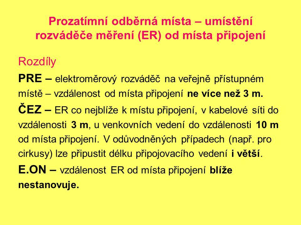 PRE – elektroměrový rozváděč na veřejně přístupném