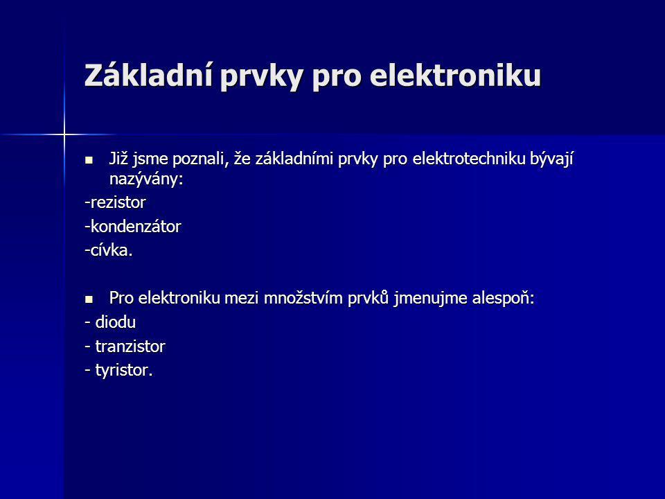 Základní prvky pro elektroniku