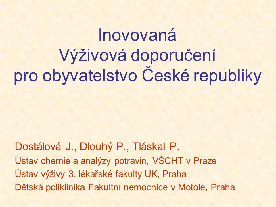 Inovovaná Výživová doporučení pro obyvatelstvo České republiky