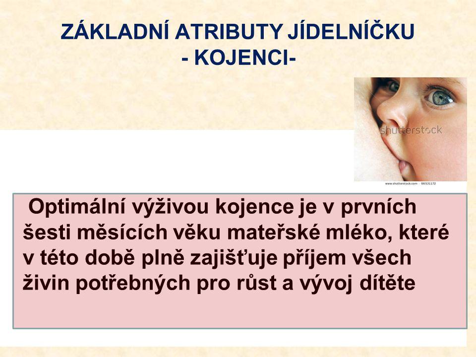 ZÁKLADNÍ ATRIBUTY JÍDELNÍČKU - KOJENCI-
