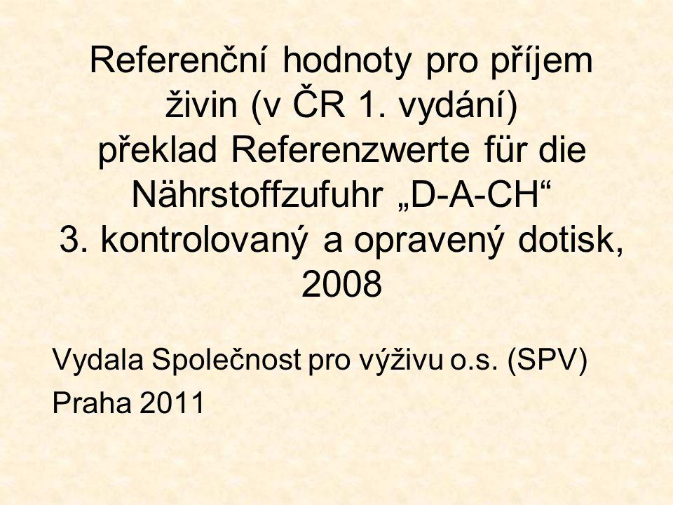 Vydala Společnost pro výživu o.s. (SPV) Praha 2011