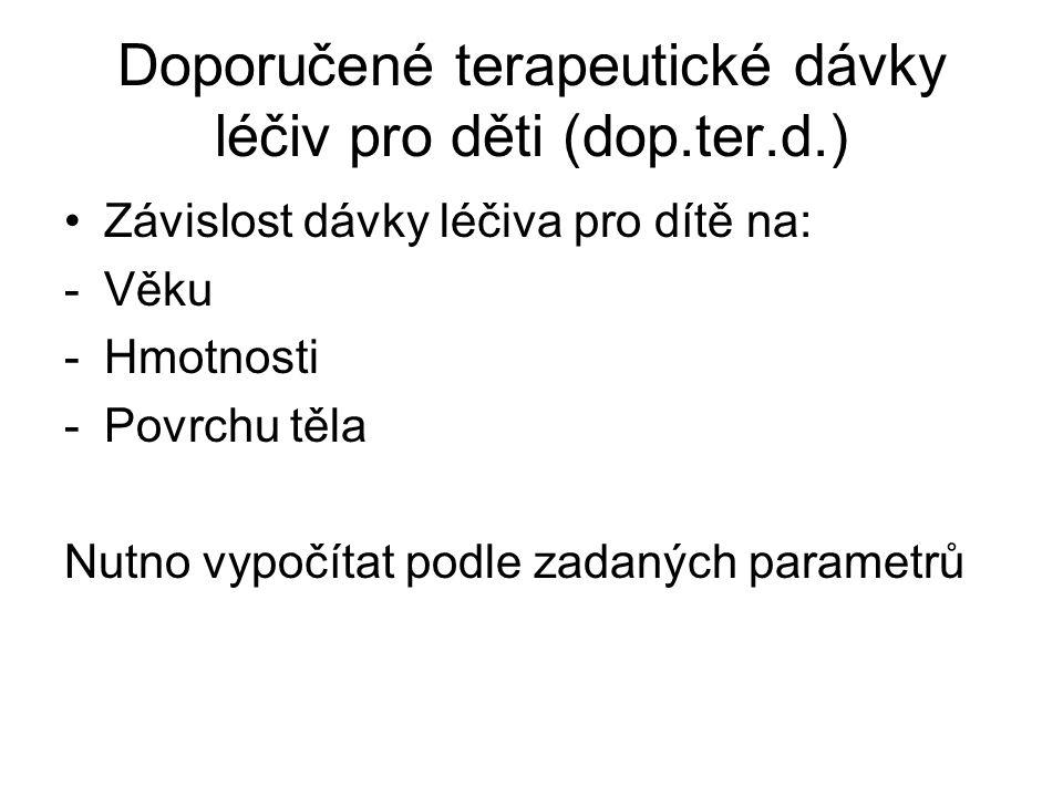 Doporučené terapeutické dávky léčiv pro děti (dop.ter.d.)