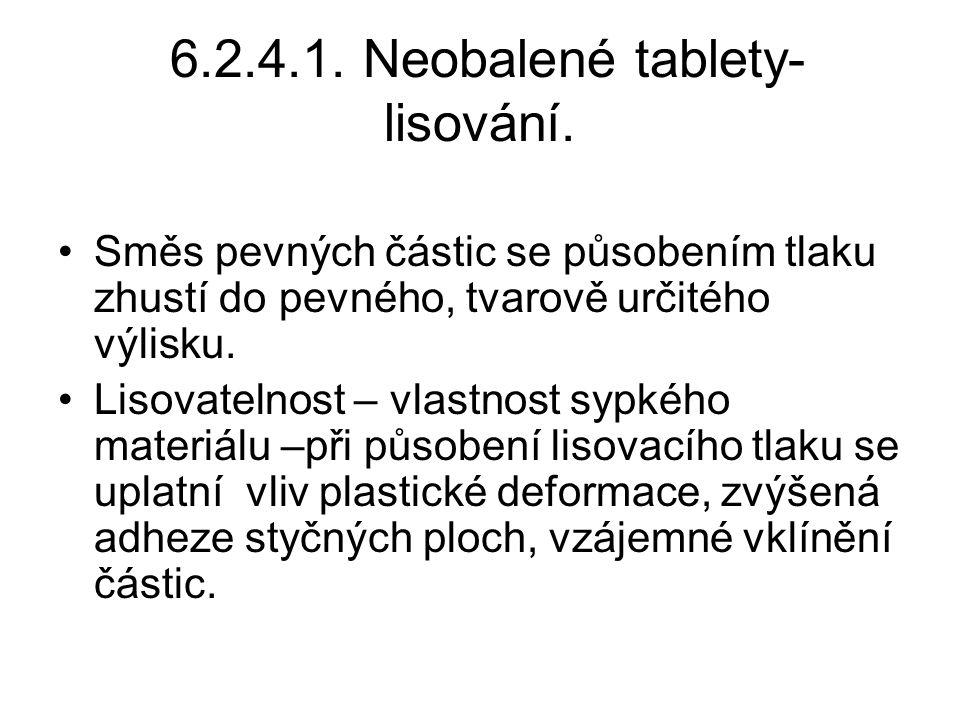 6.2.4.1. Neobalené tablety- lisování.
