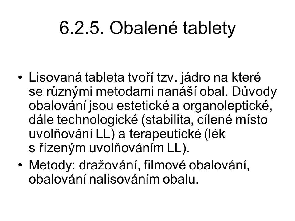 6.2.5. Obalené tablety