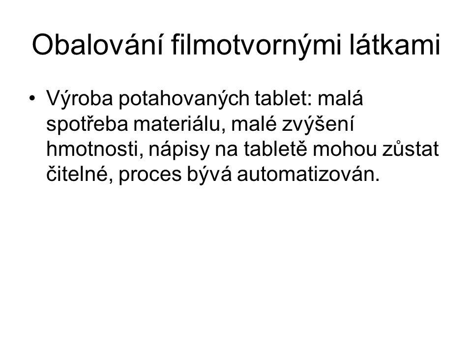 Obalování filmotvornými látkami