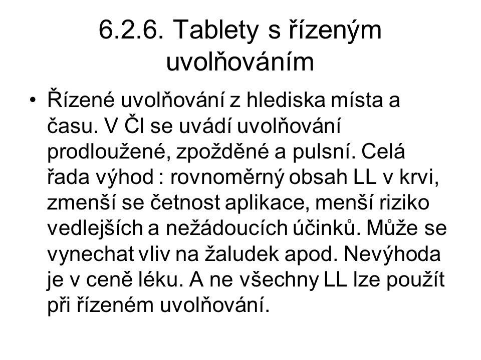 6.2.6. Tablety s řízeným uvolňováním