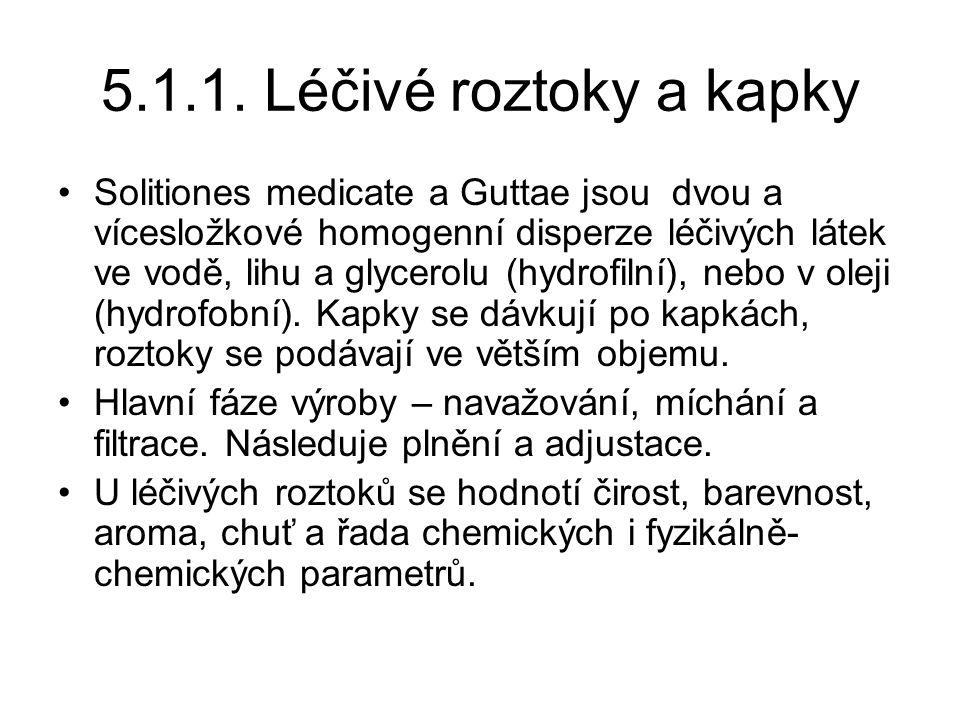 5.1.1. Léčivé roztoky a kapky