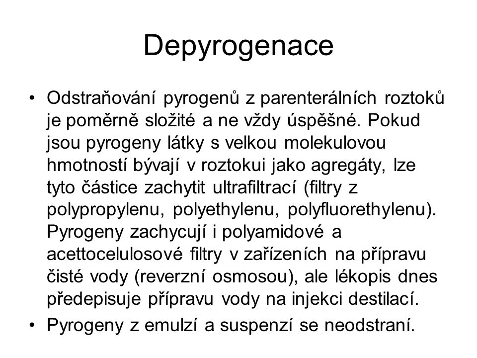 Depyrogenace
