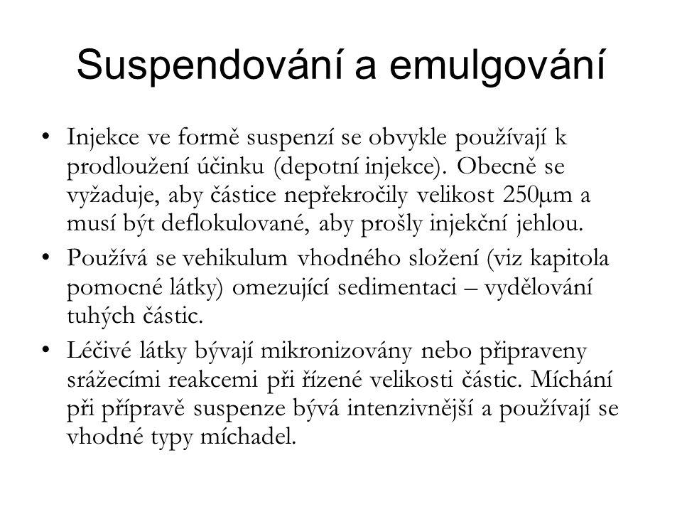 Suspendování a emulgování