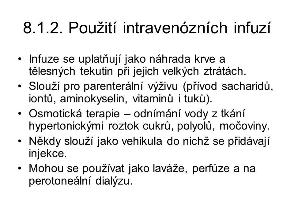 8.1.2. Použití intravenózních infuzí