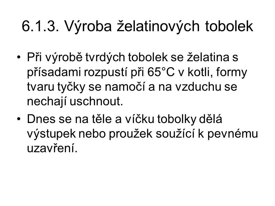 6.1.3. Výroba želatinových tobolek