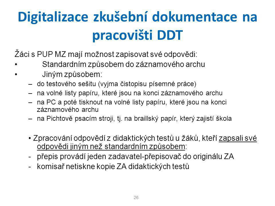 Digitalizace zkušební dokumentace na pracovišti DDT